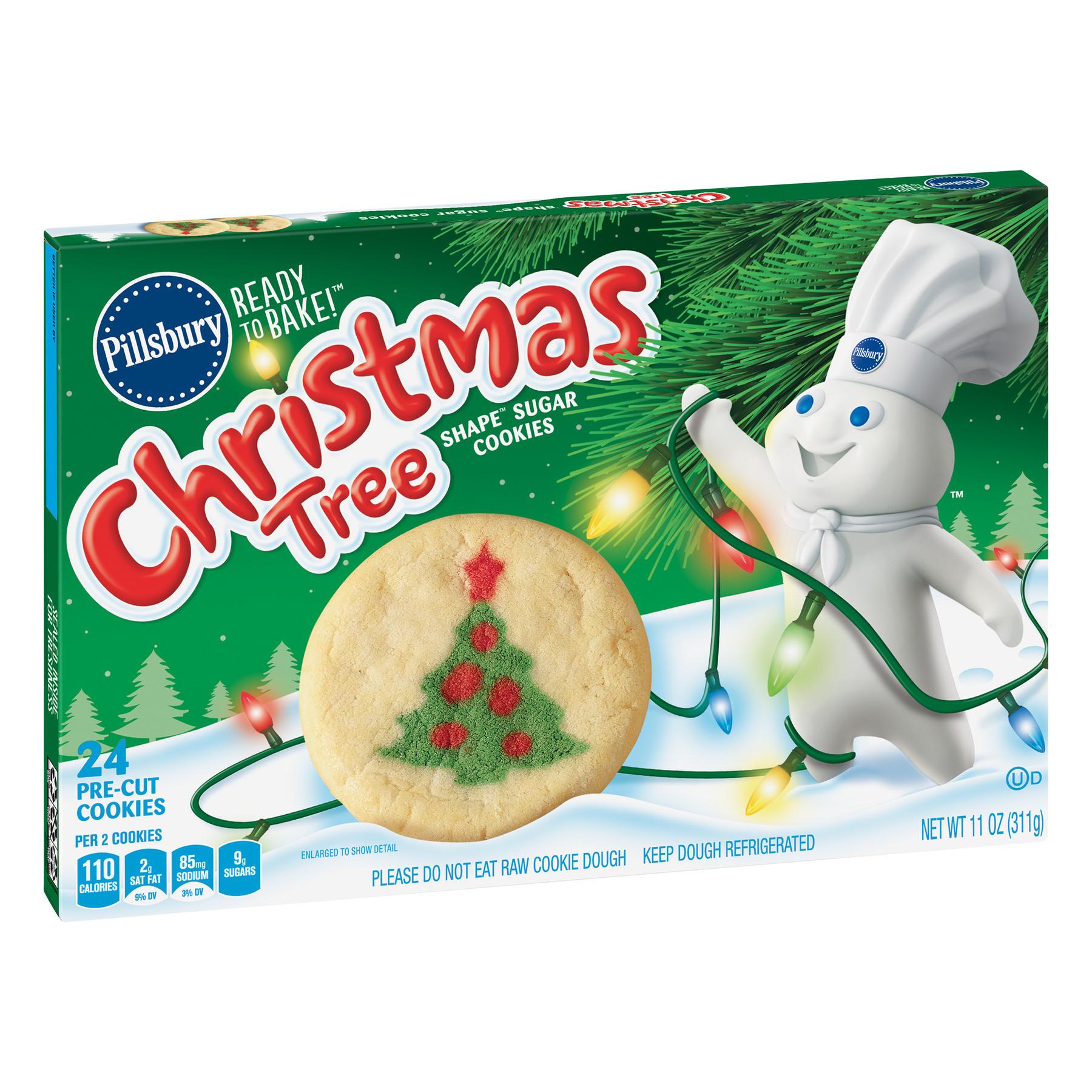 Walmart Christmas Cookies  Pillsbury Ready to Bake Christmas Tree Shape Sugar