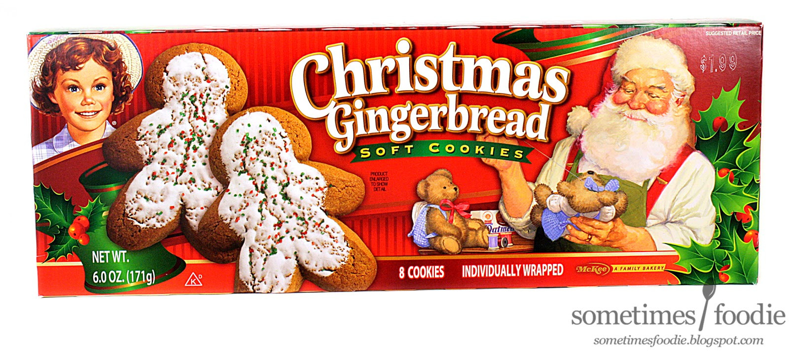 Walmart Christmas Cookies  Sometimes Foo Christmas Gingerbread Soft Cookies Walmart