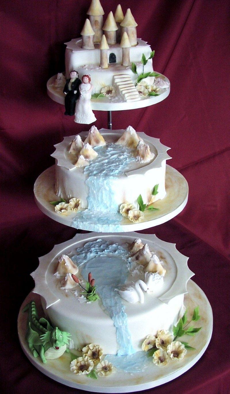 Waterfall Wedding Cakes  waterfall cake designs