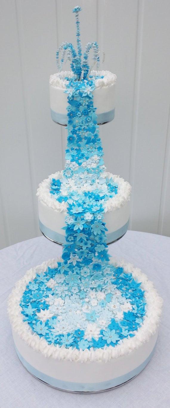 Waterfall Wedding Cakes  Fountain of flowers fake cake fake cake waterfall fake cake