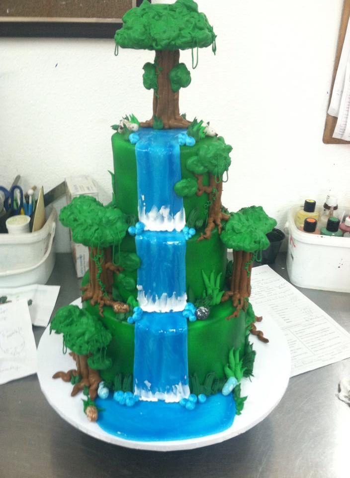 Waterfall Wedding Cakes  Waterfall Wedding Cake Wedding Cakes in 2019