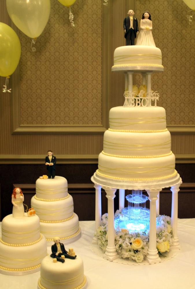 Waterfall Wedding Cakes  Galleries Sugarpaste Wedding Cakes Donna Jane Cakes