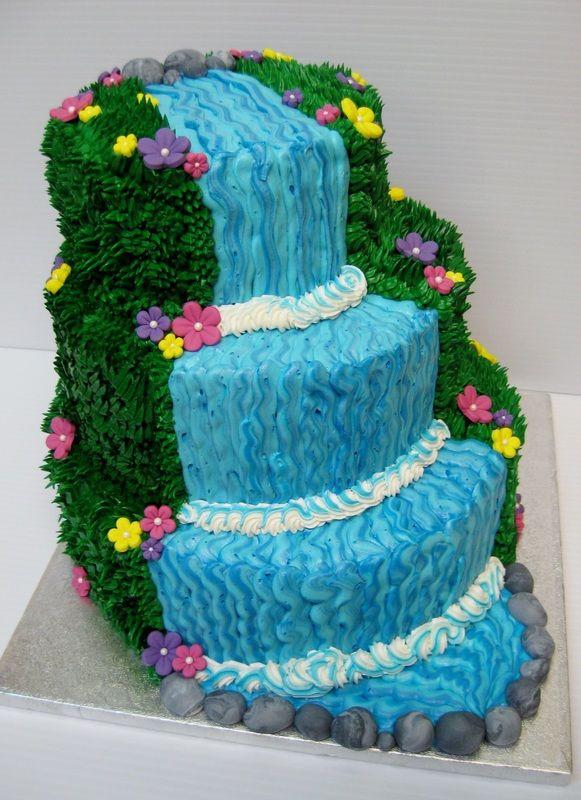 Waterfalls Wedding Cakes  Waterfall cake Cakes Pinterest