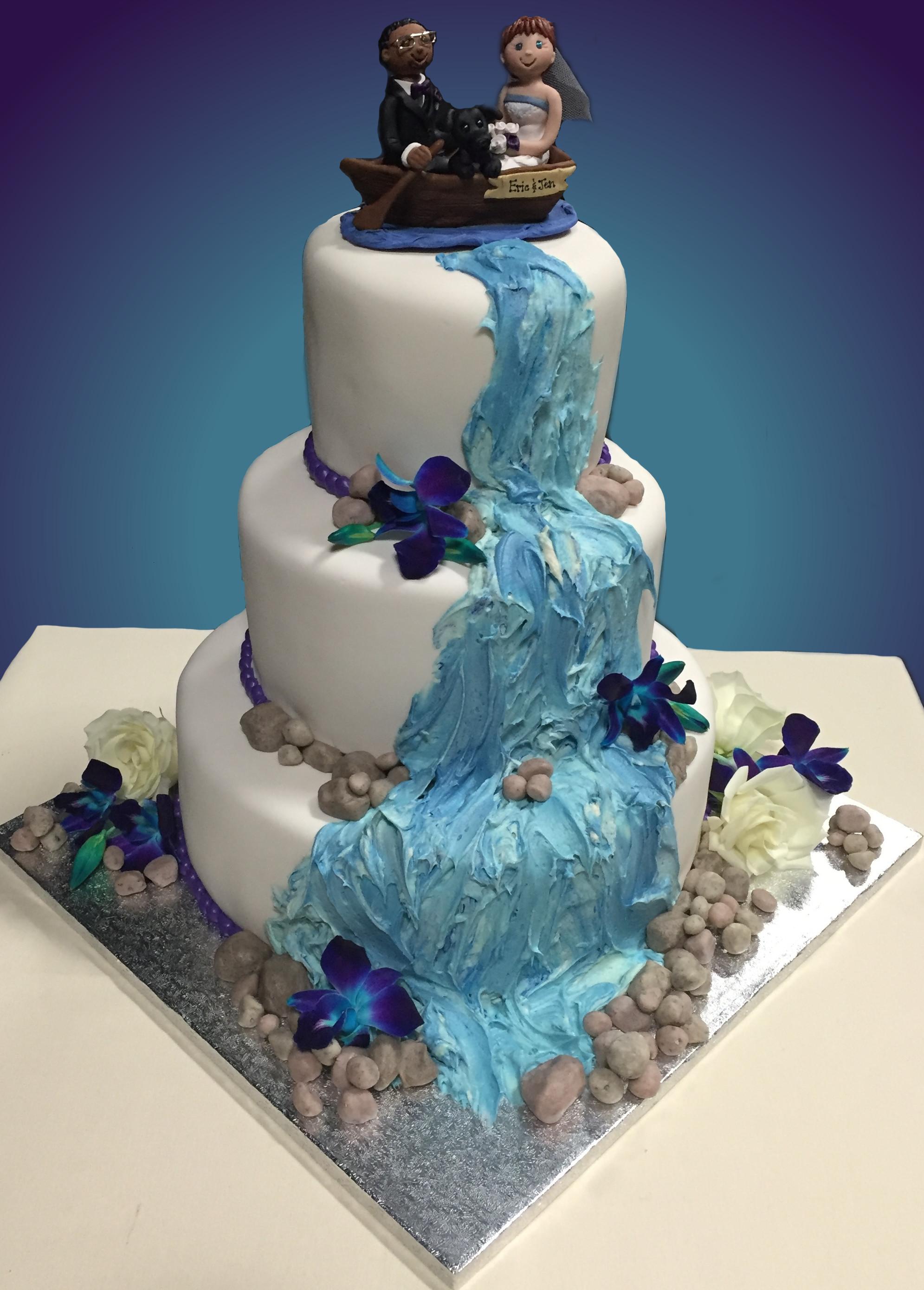 Waterfalls Wedding Cakes  Waterfall Wedding Cake Emoticakes