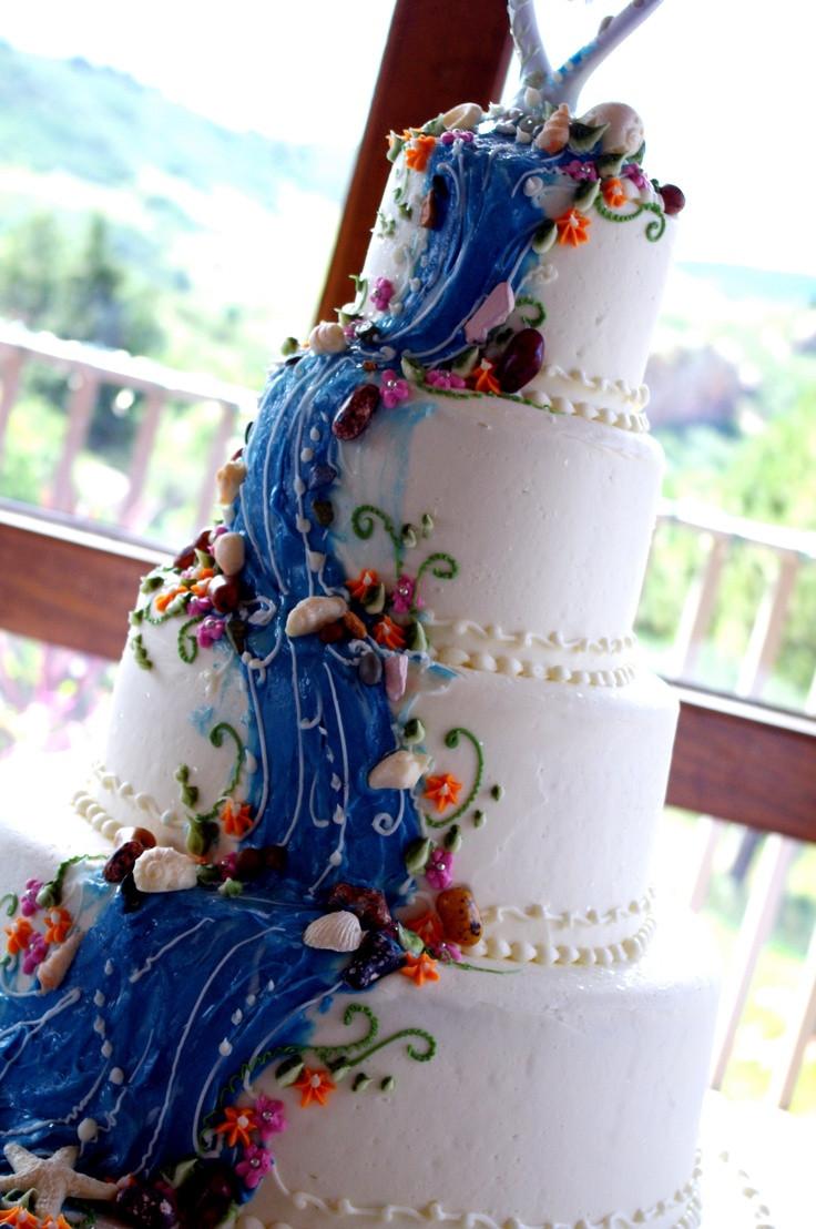 Waterfalls Wedding Cakes  Waterfall cake Favorite Places & Spaces