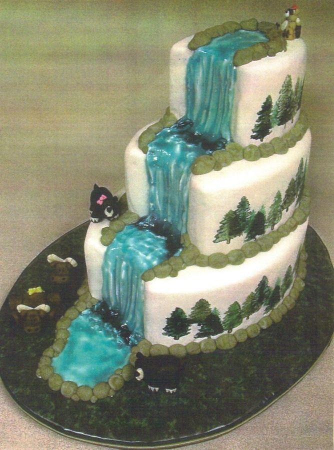 Waterfalls Wedding Cakes  Woodland Waterfall Cake — Other Mixed Shaped Wedding