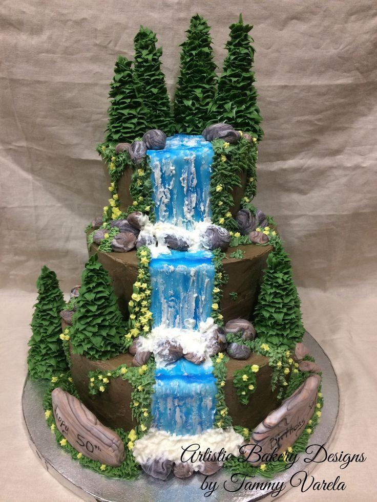 Waterfalls Wedding Cakes  17 Best ideas about Waterfall Cake on Pinterest