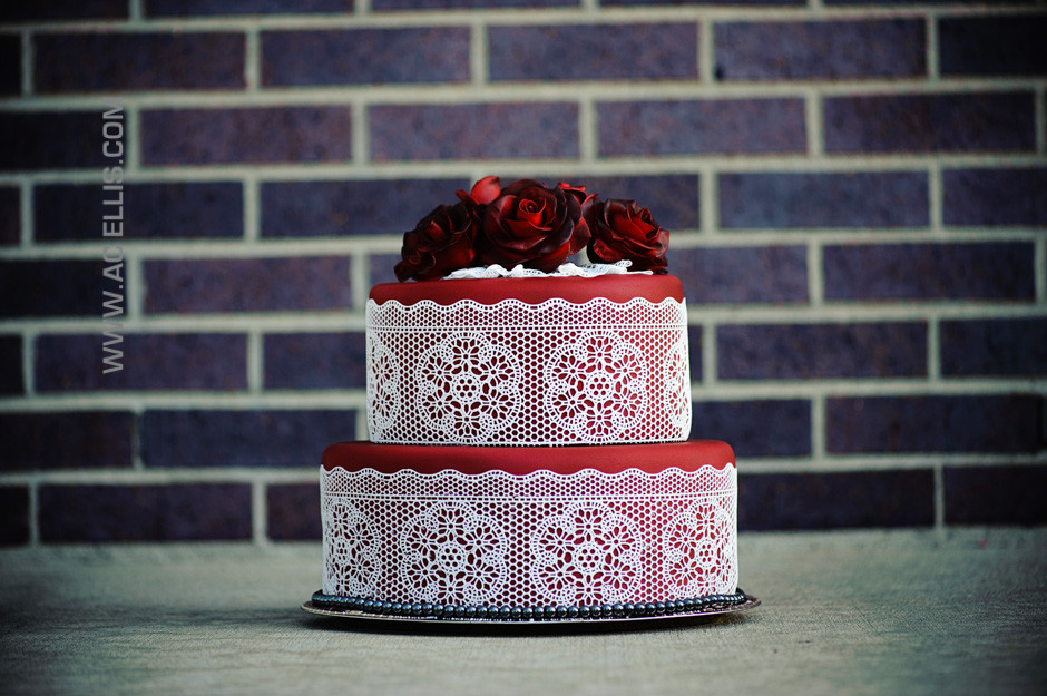 Wedding Cakes Sioux Falls  Red Lace Wedding Cake The Cake Lady Sioux Falls