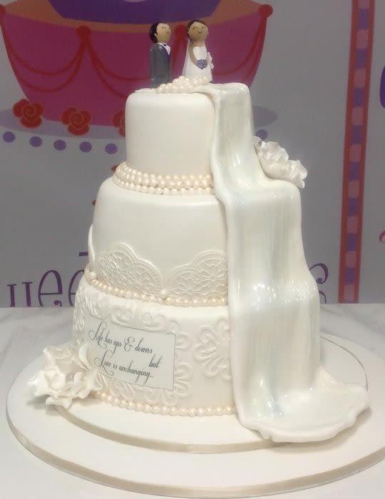 Wedding Cakes With Waterfalls  Waterfall wedding cake Cake by beasweet CakesDecor
