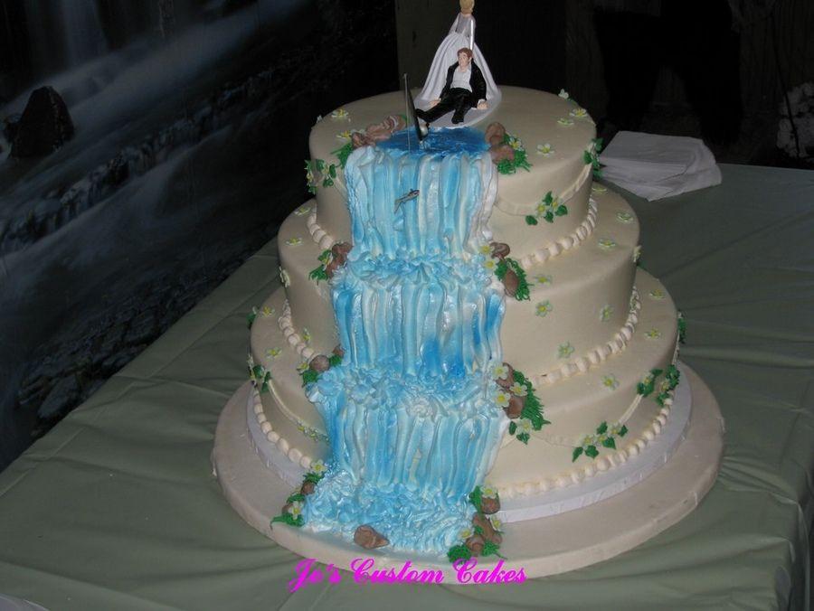Wedding Cakes With Waterfalls  Waterfall Theme Wedding