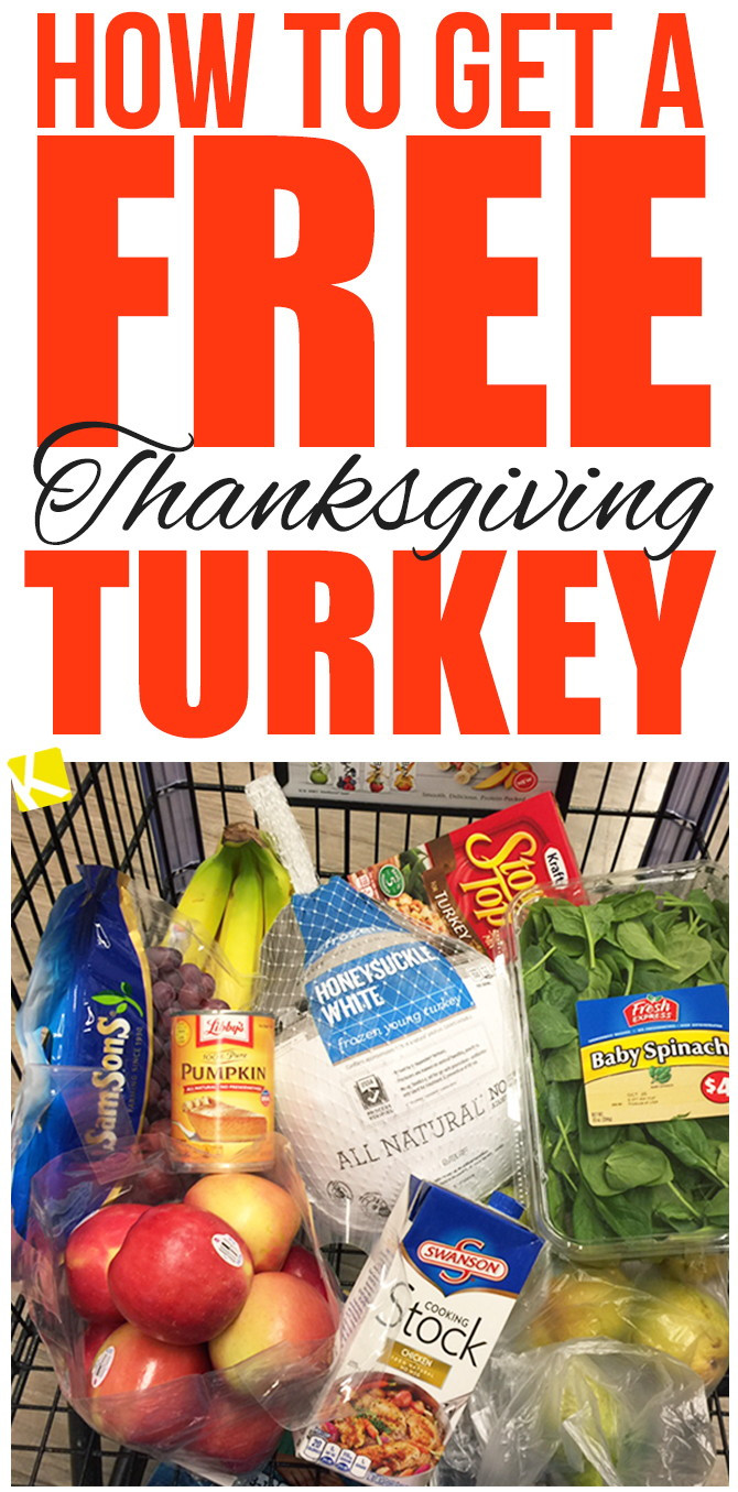 When Should I Buy My Turkey For Thanksgiving  How to Get a Free Thanksgiving Turkey The Krazy Coupon Lady