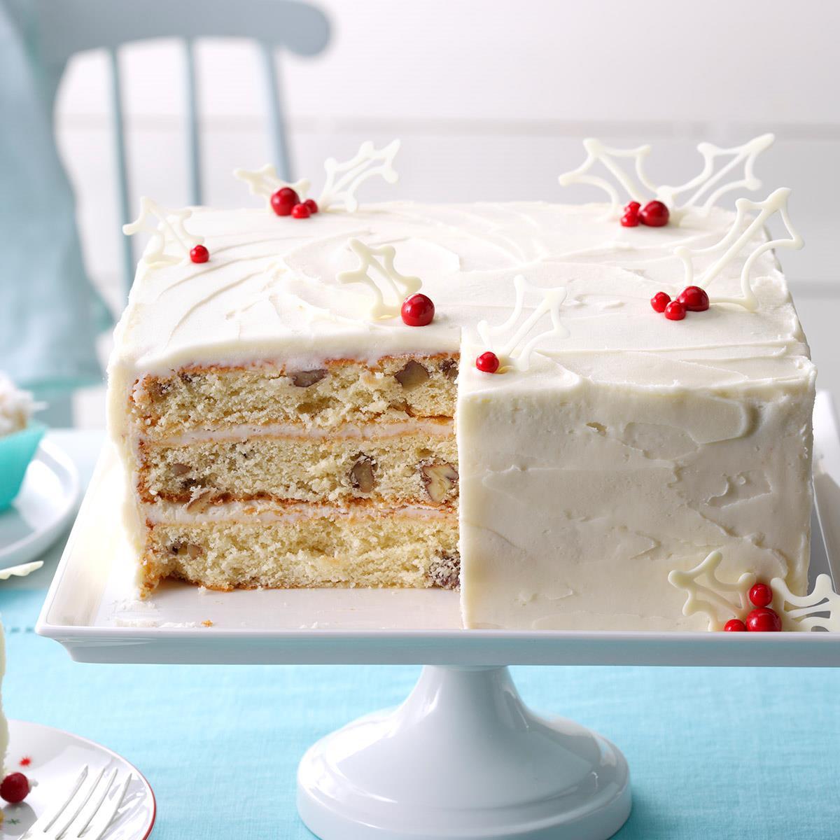 White Christmas Cake  White Christmas Cake Recipe