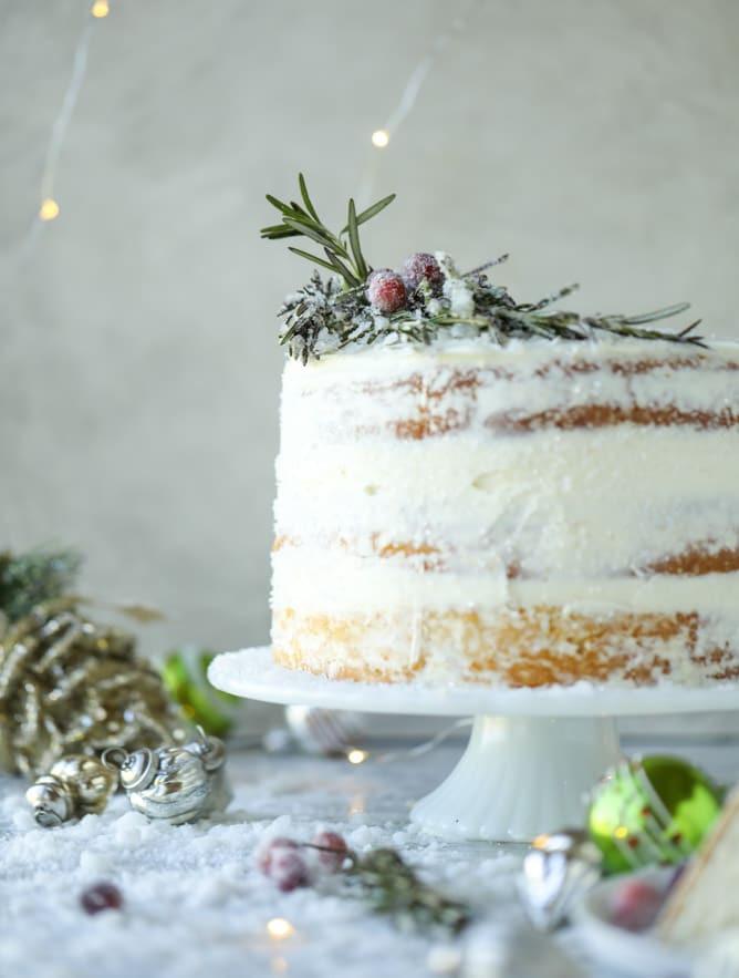 White Christmas Cake  Christmas Cake Recipe White Christmas Sparkle Cake